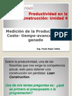 Productividad en La Construcción Clase Unidad 4