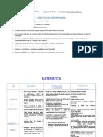 Planificacion - Unidad Diagnostica Matematica- 2do Grado- 2017