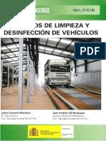Limpieza y Desinfeccion de Transporte