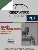 Presentación del Boletín Hemerográfico OCL Febrero 2017