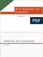Defensas de la propiedad y de la posesión