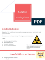 radiation - both the uses and the harmful effects b4