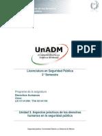 Unidad 3. Aspectos Practicos de Los Derechos Humanos en La Seguridad Publica