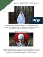 7 Razones Psicológicas Por q La Gente Le Teme a Los Payasos