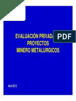 1. Evaluaciön Proyectos Mineros