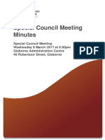 Special Council Meeting 2017-03-08 Minutes