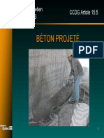 B Béton Projeté
