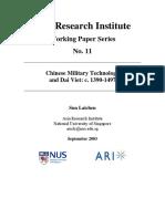 Chinese Military Technology and Dai Viet 1390 - 1497 - Sun Laichen