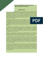 Monografía de Los Mecanismos Legales Para Las Transacciones de Capitales