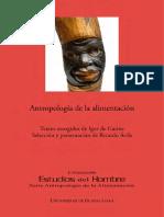 Antropologia de La Alimentacion