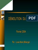 Démolition béton