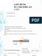 Dissimilar Metal Welding Cracking