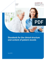 Standards for the Clinical Structure and Content of Patient Records