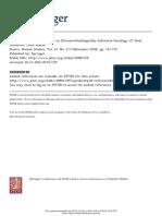 Coffee, Connoiseurship, And an Ethnomethodologically-Informed Sociology of Taste