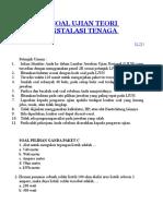 304934827 Contoh Soal Ujian Teori Teknik Instalasi Tenaga Listrik