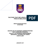 Factor That Influence Housing Price in Malaysia