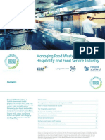 Managing Food Waste in the Hospitality & Food Service Industry