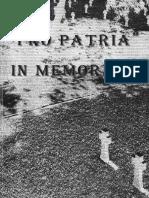 Pro Patria - In Memoriam