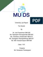 chemistry rocket labreport