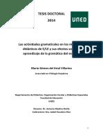 Las Actividades Gramaticales en Los Materiales Didácticos de ELE y Sus Efectos Sobre El Aprendizaje de La Gramática Del Español