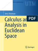 Calculus and Analysis in Euclidean Space-Jerry Shurman