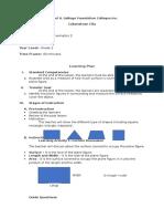 Lesson Plan in Mathematics -Area Concept1