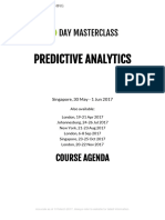 3 Day Masterclass in Predictive Analytics