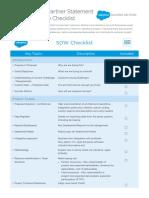 SuccessDesk SOW Checklist
