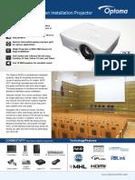 Optoma W515 DLP WXGA Professional Installation Projector