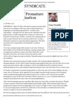 The Perils of Premature Deindustrialization by Dani Rodrik - Project Syndicate