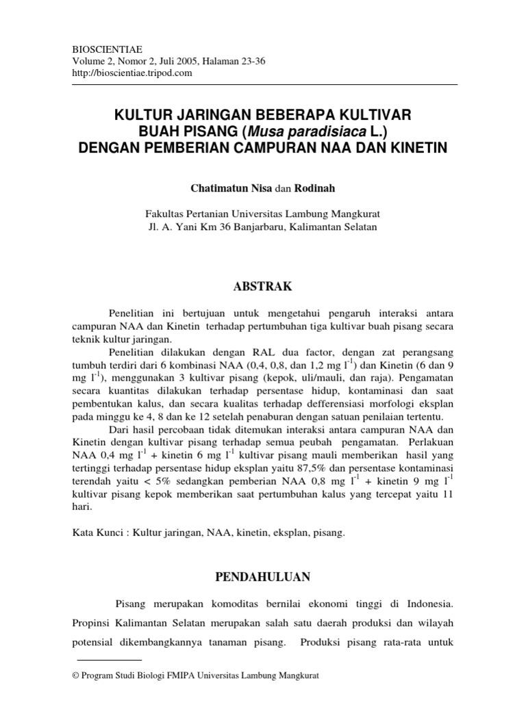 Jurnal Kultur Jaringan