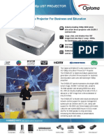Optoma EH320UST 3D Ready Ultra-Short Throw Business DLP Projector