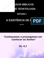 01 - A Existência de Deus