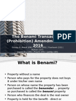 Group 8 - Benami Transactions Act PPT