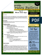 MS Parent Bulletin (Week of March 13 to 17)