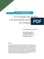 Unidad i 6 Concepto de Familia y La Formacion Academica en Ts Robles