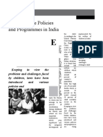 Child Welfare Policies and Programs in India
