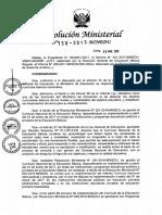 Resolución Ministerial N° 159-2017-MINEDU