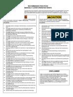 HMI RecommendedPracticesLeverHoist ENGLISH