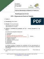 Planificação EFA 3775 Ergonomia Do Posto de Trabalho
