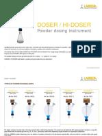 LAMBDA DOSER - HIDOSER, Powder Dosing Instrument Leaflet