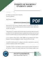 La liste des cours que réclament les étudiants de l'université de Maurice