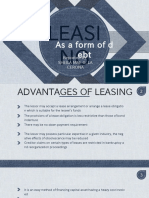 Leasing as a Form of Debt