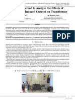 A Novel Method to Analyse the Effects of Geomagnetic Induced Current on Transformer