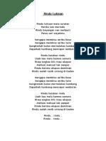 Lirik Rindu Lukisan