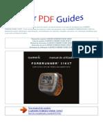 Manual Do Usuário Garmin Forerunner 310xt p