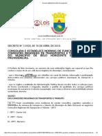 Decreto 13920 2010 de Belo Horizonte MG