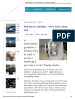 Hydroelectric Generator_ How to Build a Small One - The Green Optimistic