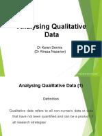 Lesson 9 - Week 9 Qualitative Analysis