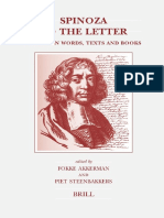 (Brill's Studies in Intellectual History 137) Fokke Akkerman, Piet Steenbakkers-Spinoza to the Letter